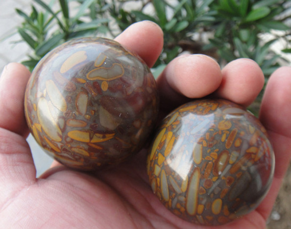 Chinese marble health baoding balls