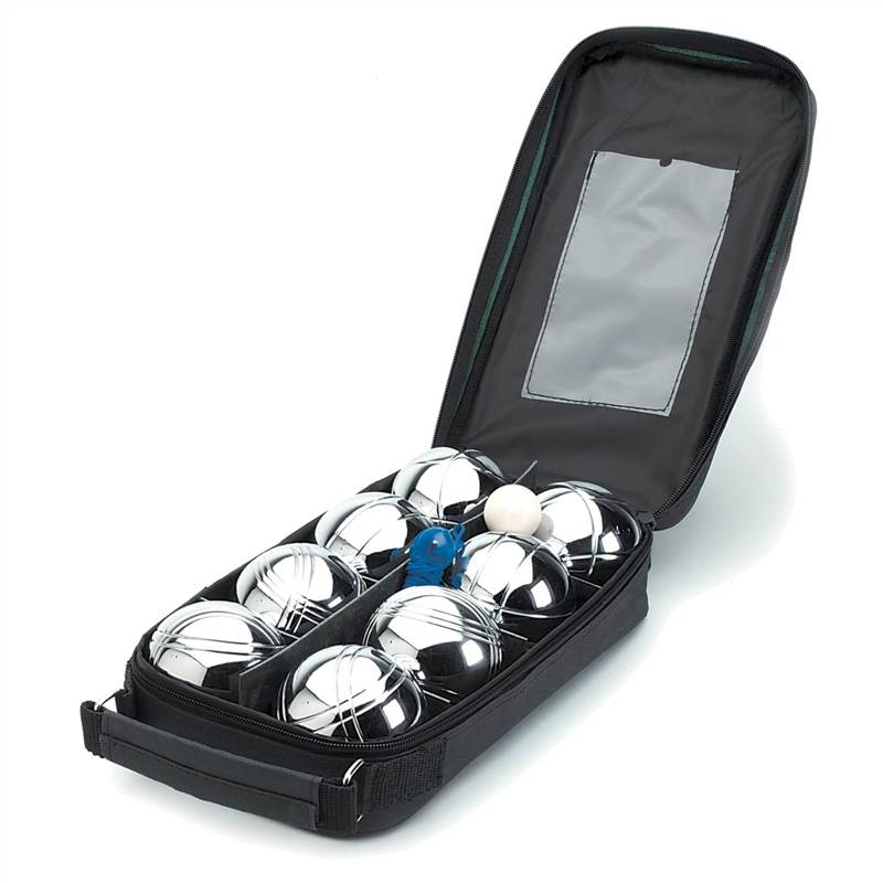 Supply 8 ball Jeu-de-boules set with nylon case