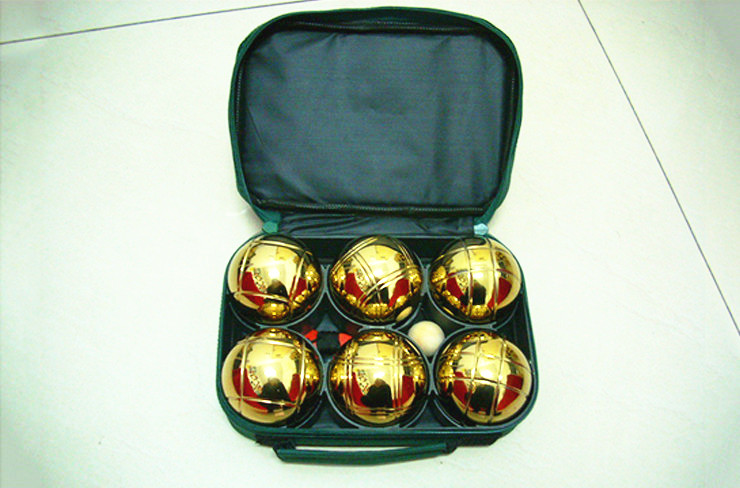 Golden color metal boules sets 6 ball Jeu Game