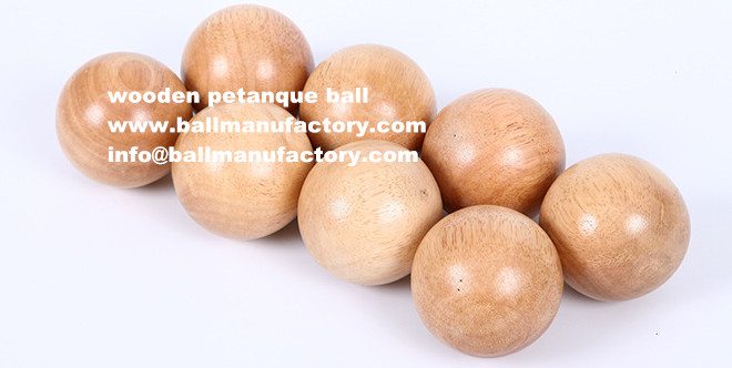 supply 55mm wooden petanque set 8 ball
