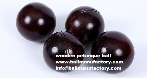 custom black wooden petanque boules ball toy ball