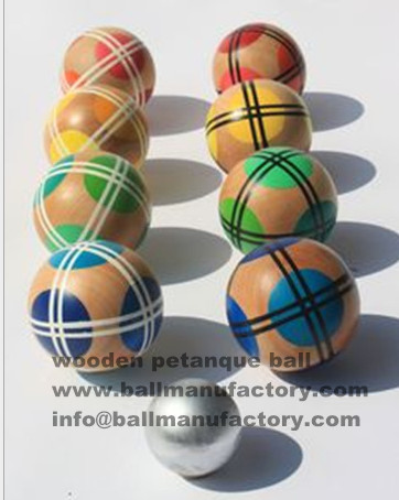 custom wooden boules ball /game ball /toy ball