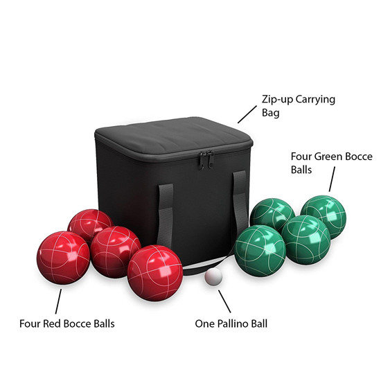 sell 90mm bocce set ball with black nylon case