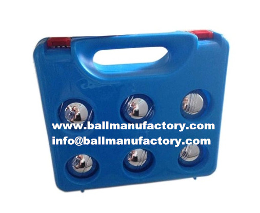 6pcs petank ,boules ball with plastic case