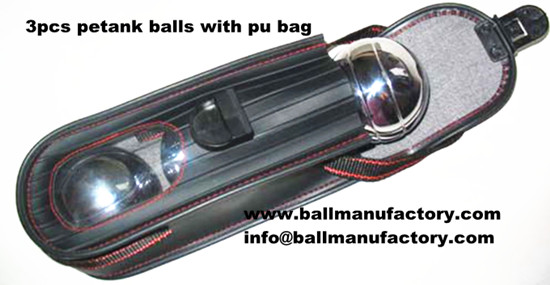 personalized petank ,petanque with pu bag