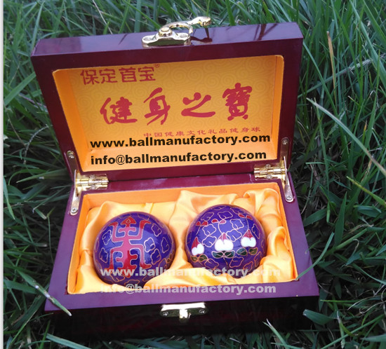 Cloisonne Chinese health ball for old men gift