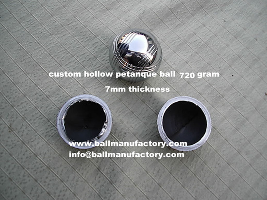Supply custom hollow leisure petanque ball 680gram