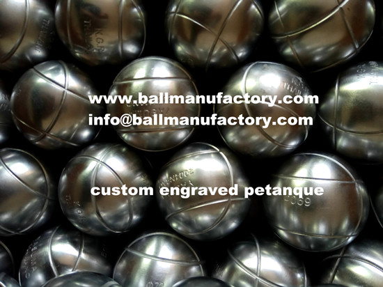 Sell custom engraved metal boules petanque ball