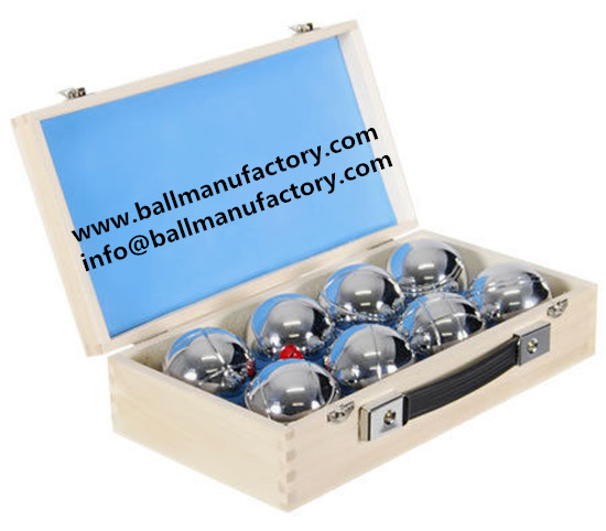 outdoor game ball boules sets with wooden case