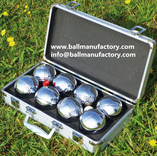 outdoor game ball boules set with Aluminum case