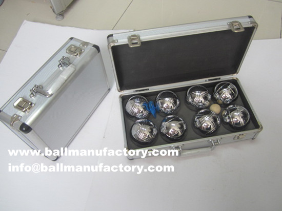 petanque boules ball with metal Aluminum case
