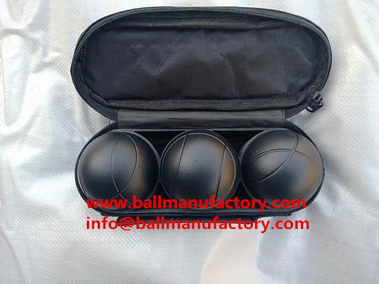 supply petanque ball boules set  in black color