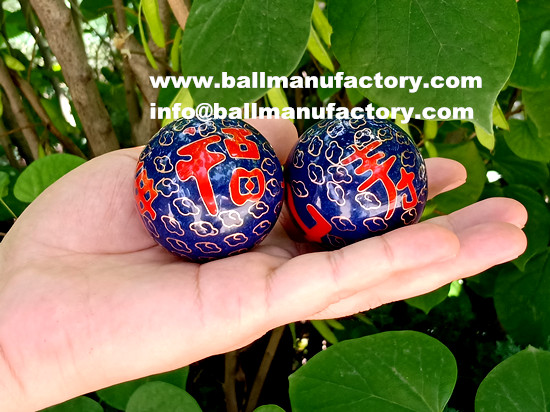 Chinese steel cloisonne chiming baoding balls