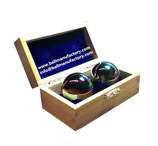 sell Chinese therapy ball in rainbow color