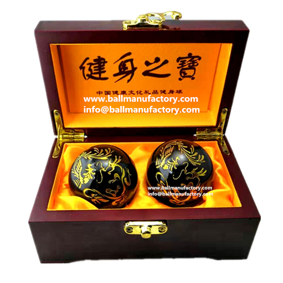 Gifts for men-Chinese metal health chiming ball