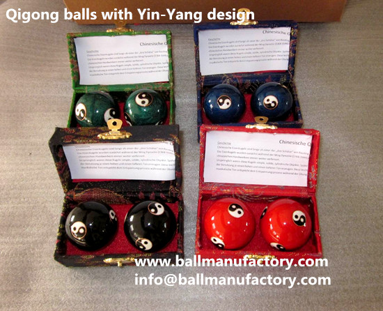 Supply 40mm Qigong balls with Yin-Yang design