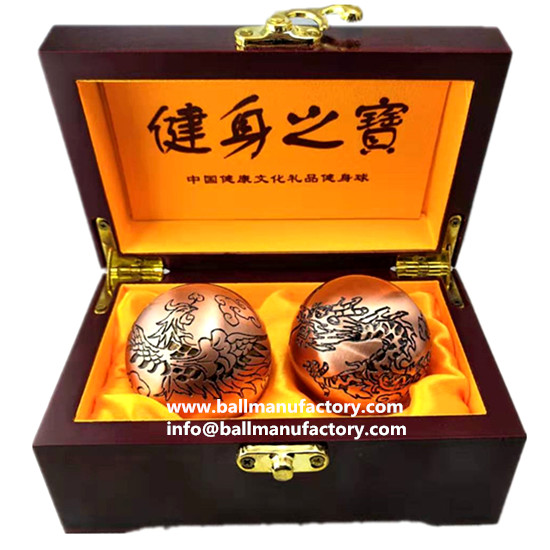 Engraved Chinese health ball top grade gift
