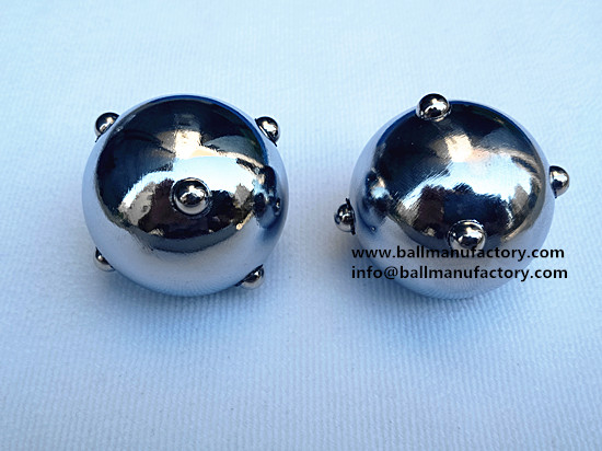 New model Chinese massage ball 40mm silver color
