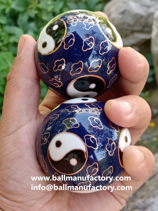 Supply Chinese Cloisonne meditation balls