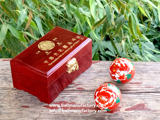 Souvenir -gifts-Chinese cloisonne baoding balls