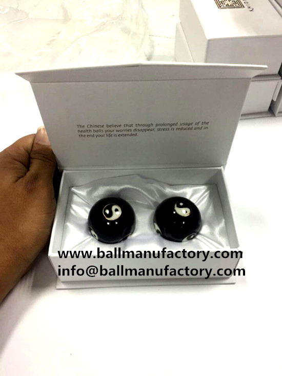 Hand Health balls with custom box - promotion gift