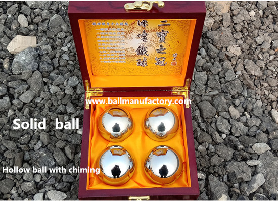 Gift box for metal stainless steel hand ball