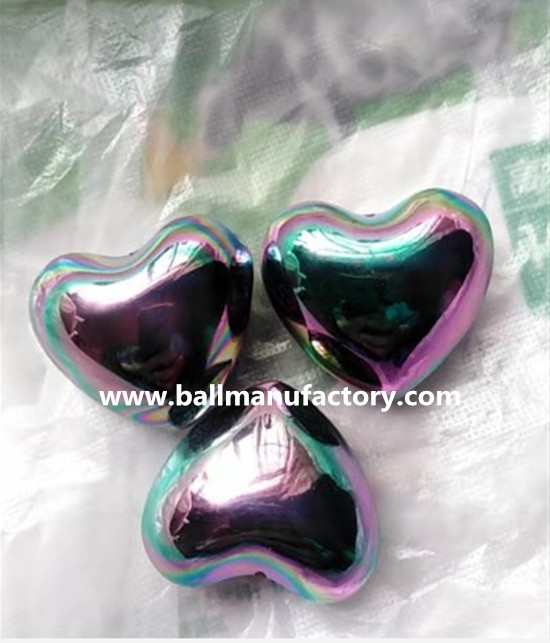Metal Heart gift with chiming ,rainbow color