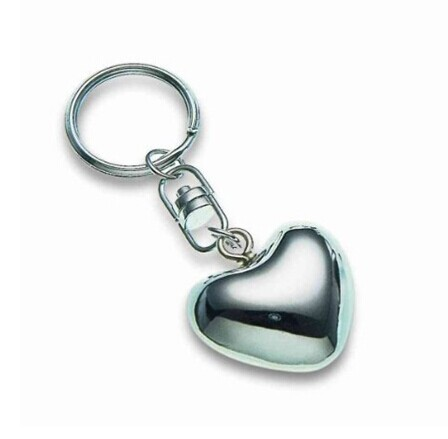 metal sound heart with keychain
