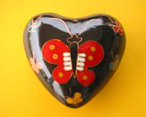 cloisonne metal heart